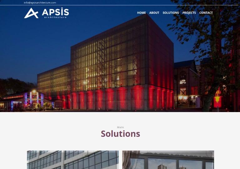 Apsis Architecture Web Site Tasarımı