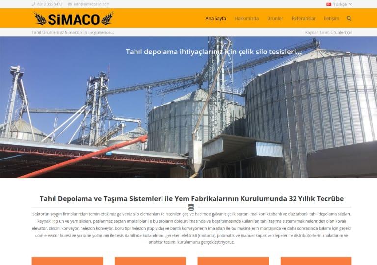 Simaco Silo Web Site Tasarımı